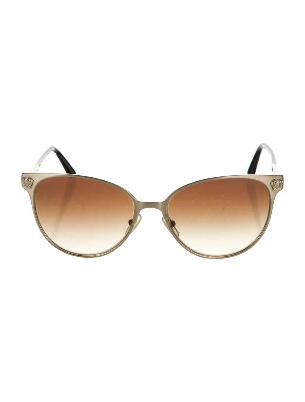 Versace Cat-Eye Gradient Sunglasses Gold - image 1