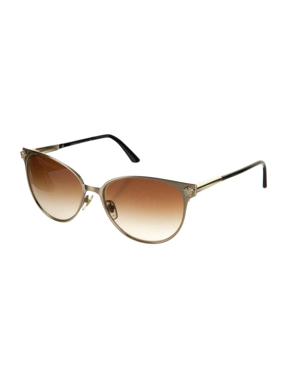 Versace Cat-Eye Gradient Sunglasses Gold - image 2