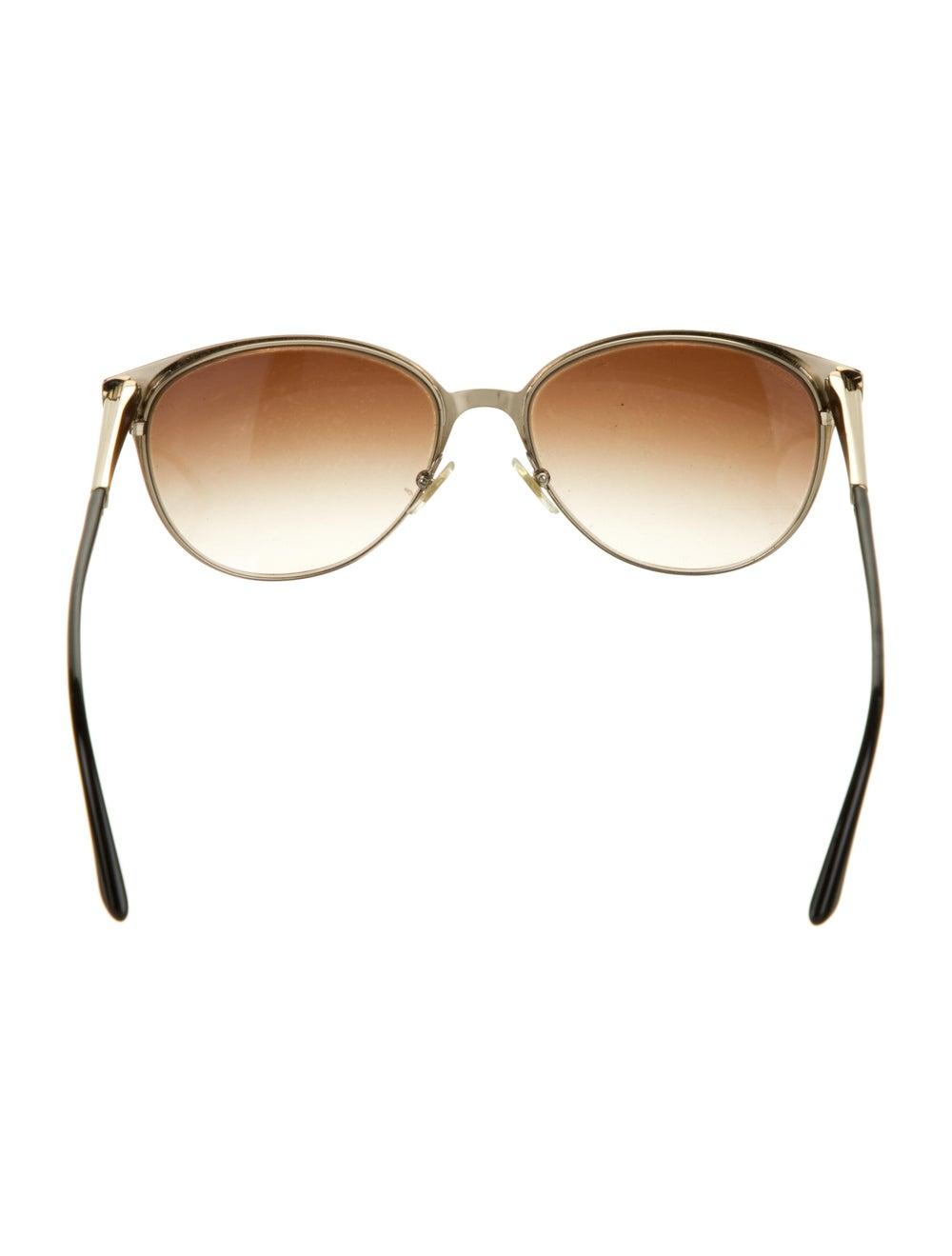 Versace Cat-Eye Gradient Sunglasses Gold - image 3