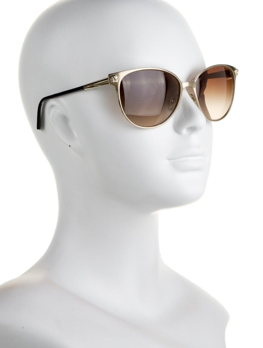 Versace Cat-Eye Gradient Sunglasses Gold - image 4