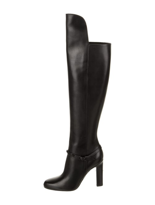 Versace Medusa Insignia Leather Boots Black