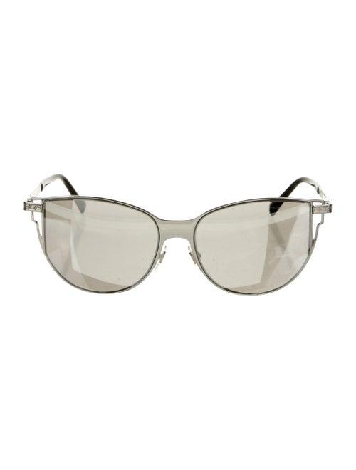 Versace Cat-Eye Mirrored Sunglasses Silver