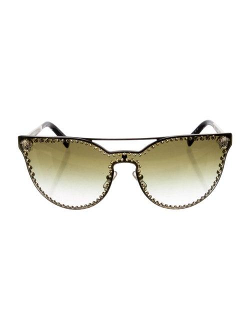Versace Medusa Insignia Cat-Eye Sunglasses Gold