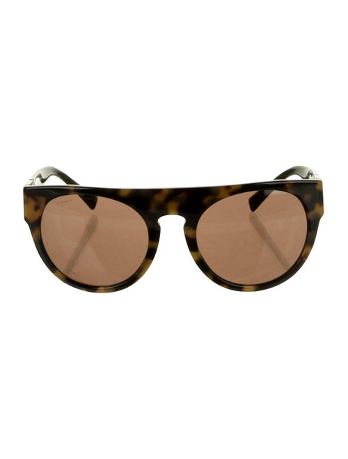 Versace Cat-Eye Mirrored Sunglasses Brown