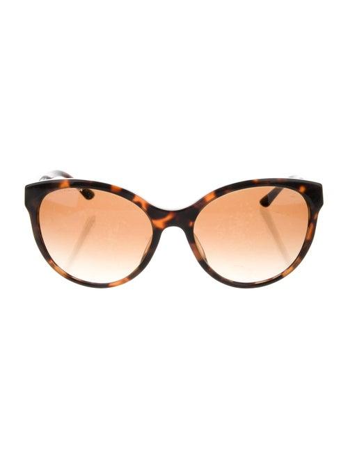 Versace Cat-Eye Gradient Sunglasses Brown