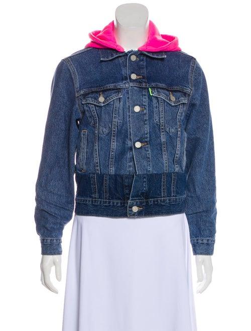 Vetements x Levi's Denim Hooded Jacket pink