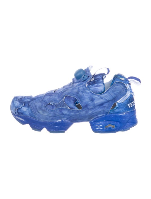 Vetements x Reebok Instapump Fury Sneakers blue