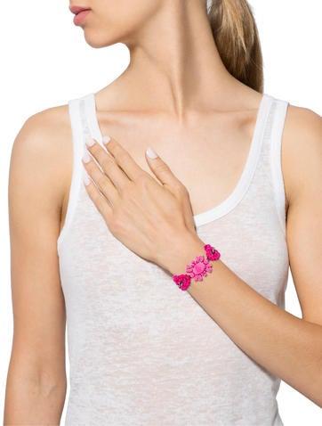 Embellished Strawberry Pink Crazy for You Bracelet w/ Tags