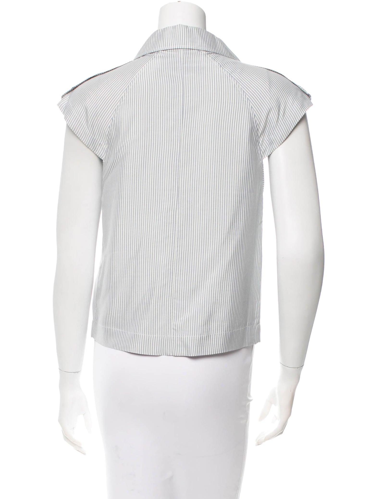 viktor rolf silk striped top clothing vik20722 the realreal. Black Bedroom Furniture Sets. Home Design Ideas