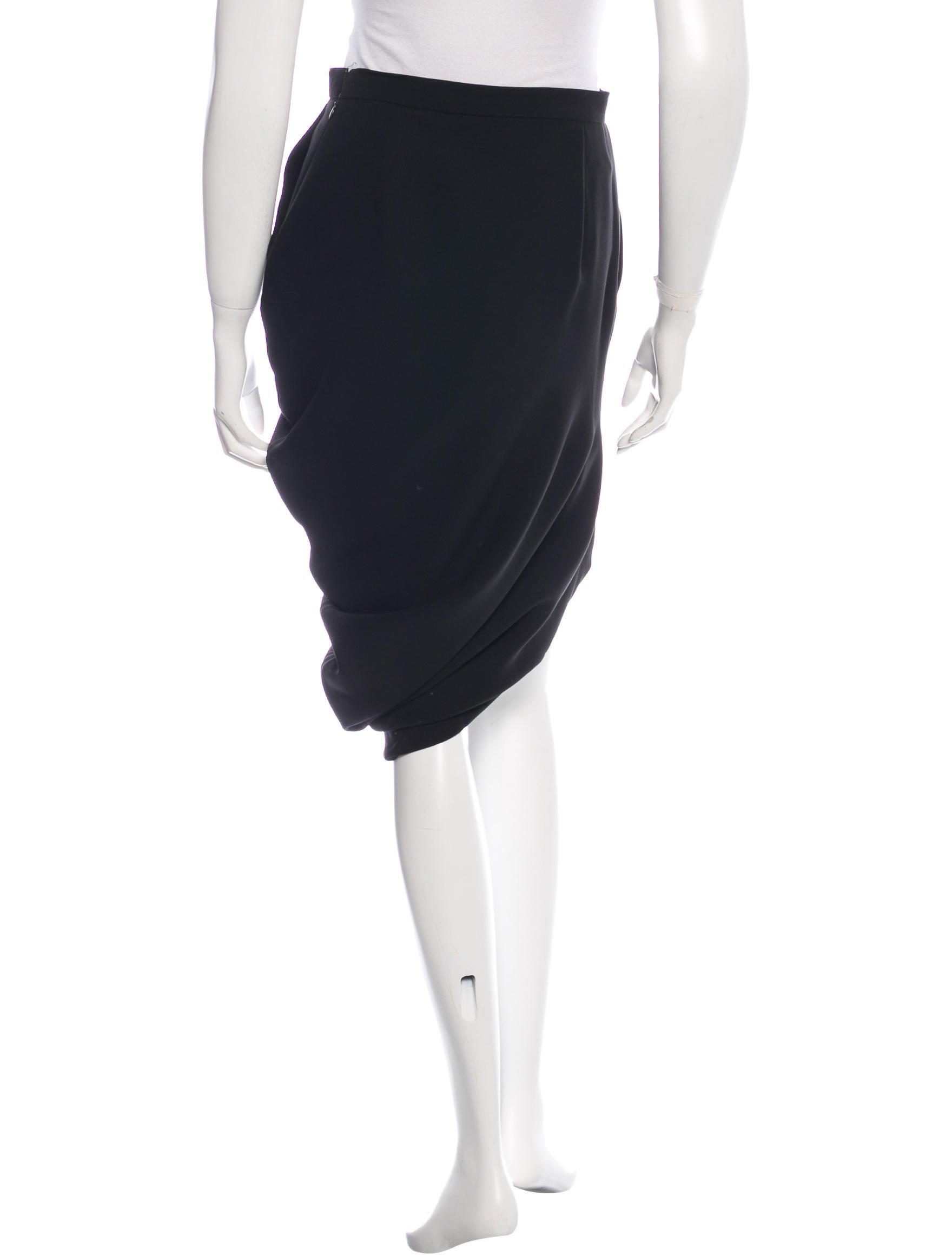 viktor rolf draped pencil skirt clothing vik20906