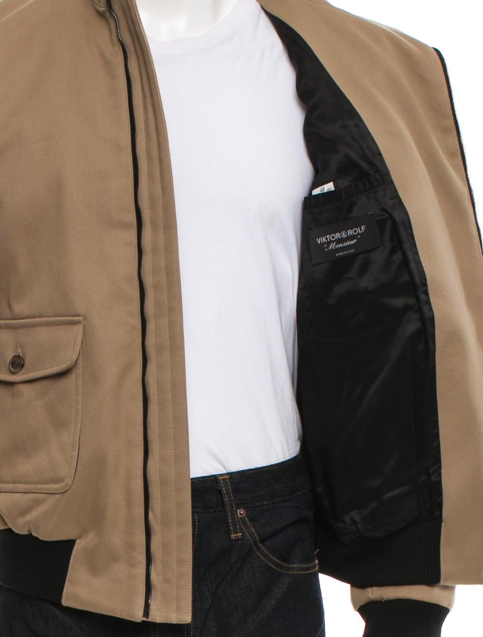 viktor rolf lightweight flight jacket clothing vik21023 the realreal. Black Bedroom Furniture Sets. Home Design Ideas