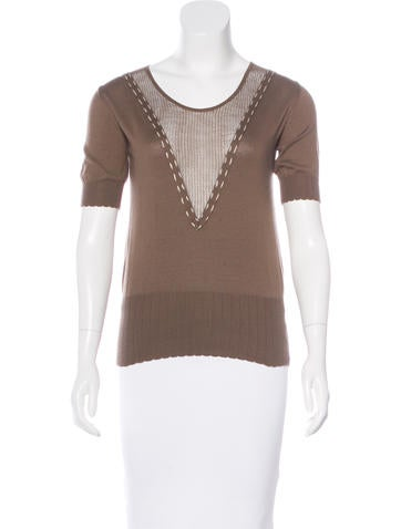 Viktor & Rolf Short Sleeve Knit Top None