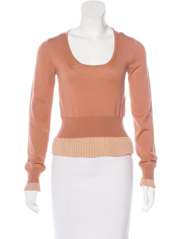 Viktor & Rolf Wool Pleated Sweater None