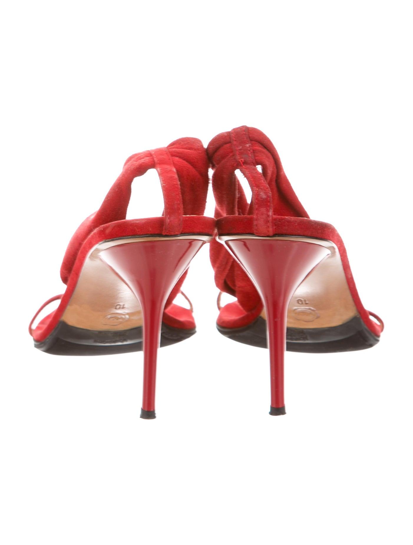 viktor rolf suede knot sandals shoes vik21381 the realreal. Black Bedroom Furniture Sets. Home Design Ideas