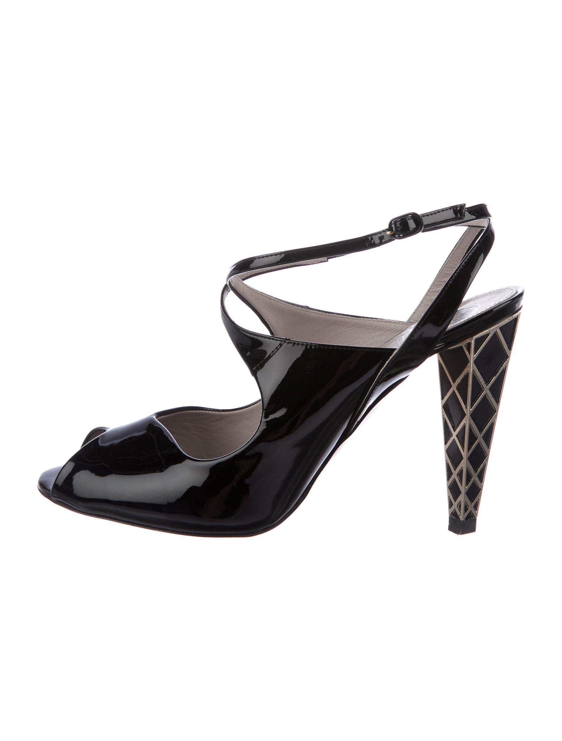 Viktor & Rolf Patent Leather Sandals RaekZR