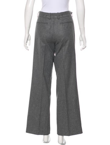 Wool High-Rise Pants w/ Tags