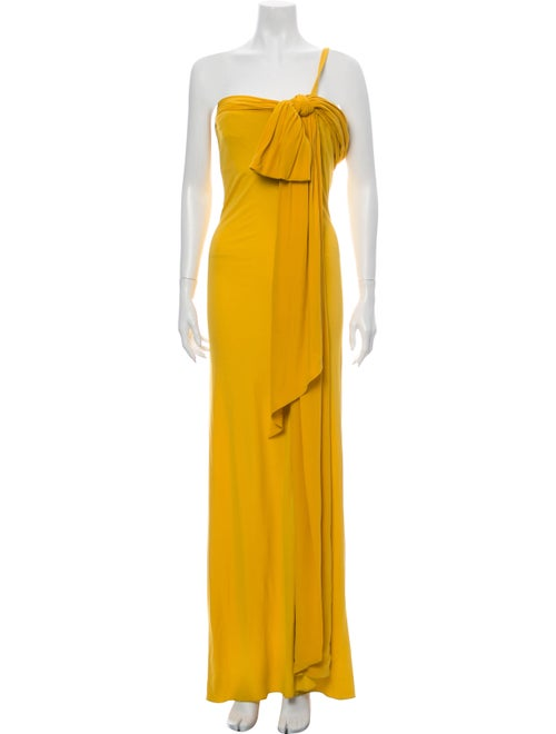 Viktor & Rolf One-Shoulder Long Dress Yellow
