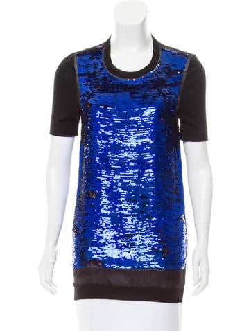 Vionnet Sequin Wool Top None
