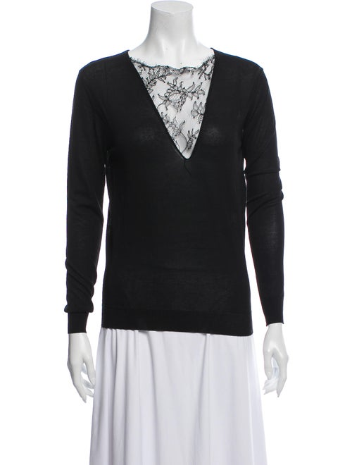 Vionnet V-Neck Sweater Black
