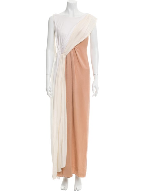 Vionnet One-Shoulder Long Dress