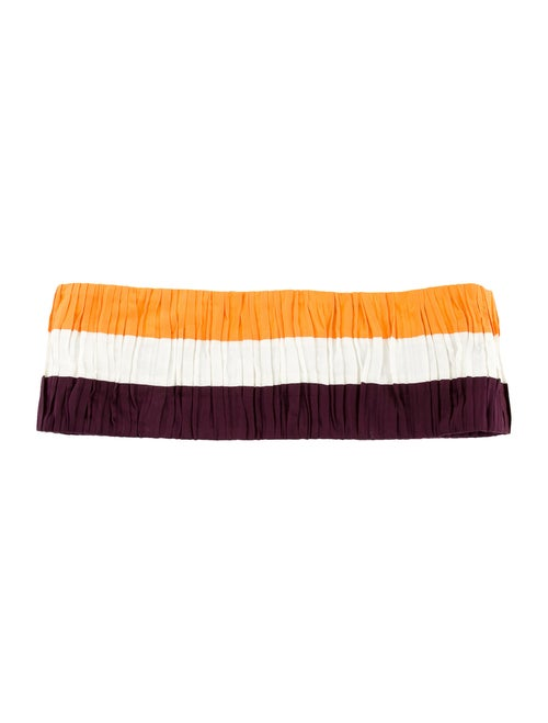 Vionnet Stripe Waist Belt orange