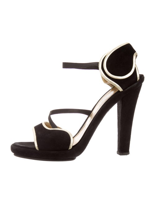 Vionnet Suede Sandals Black