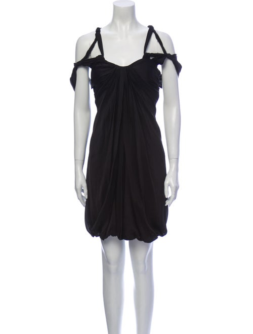 Vionnet Silk Mini Dress Black