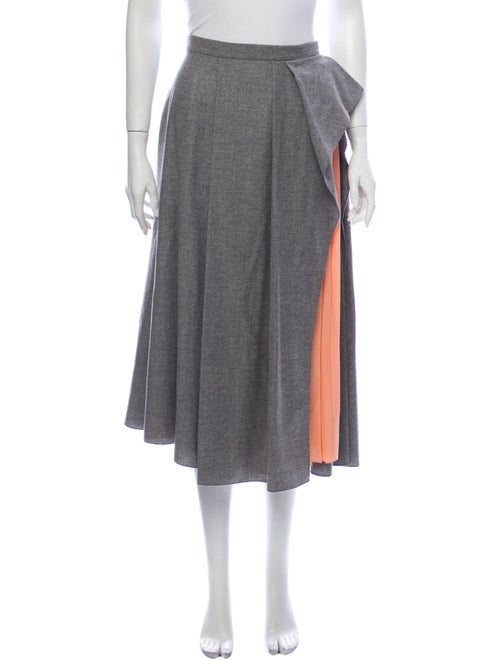 Vionnet Virgin Wool Midi Length Skirt w/ Tags Wool
