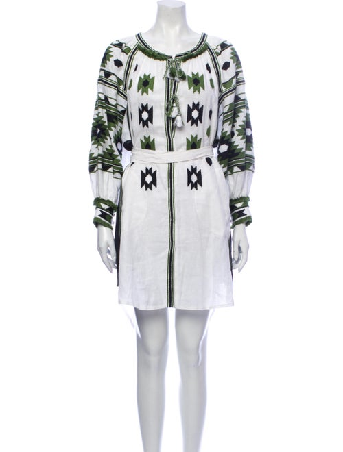 Vita Kin Linen Mini Dress White