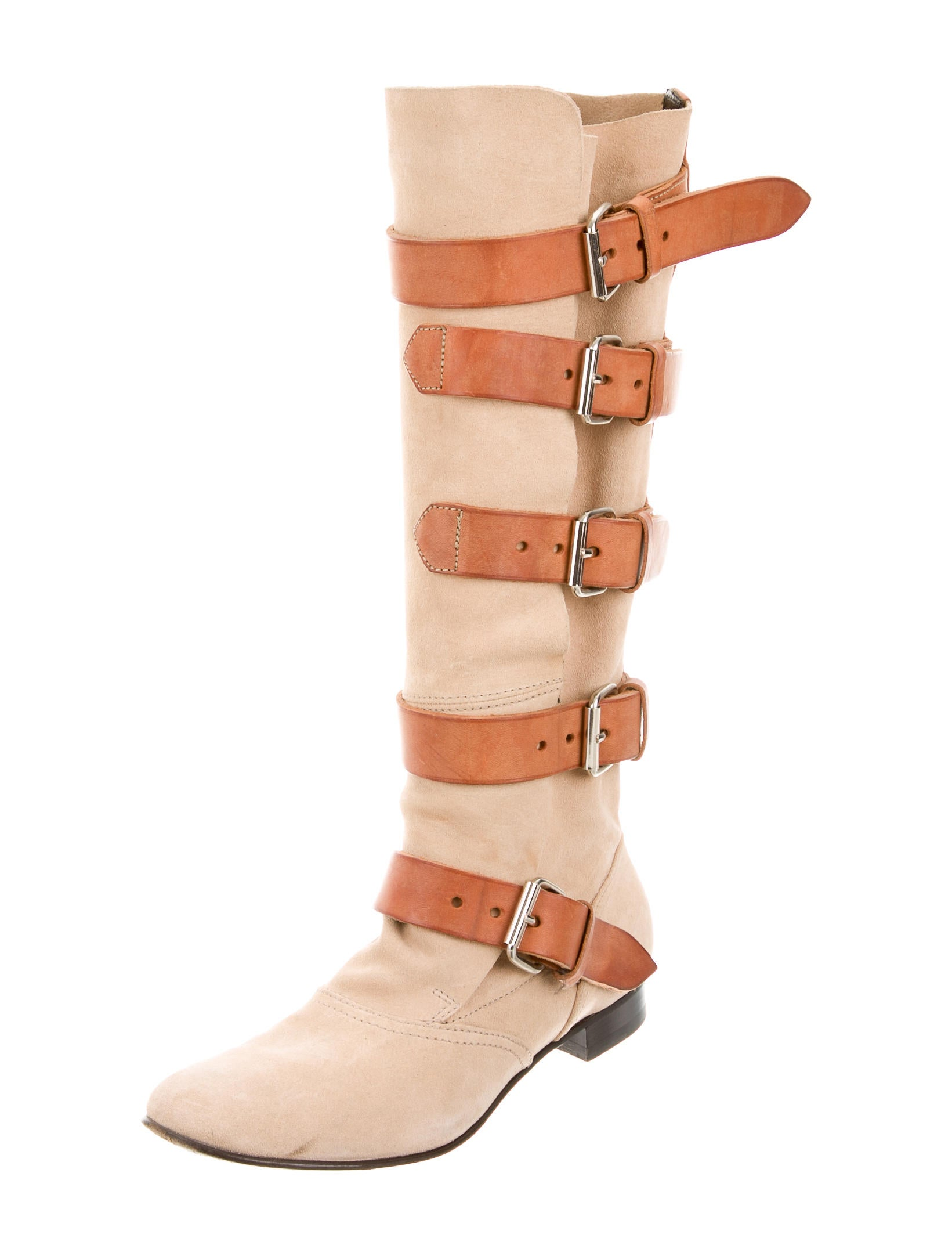 vivienne westwood suede buckle embellished boots shoes viv20769 the realreal