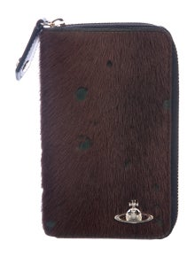 928f040850a6a9 Vivienne Westwood. Ponyhair Zip Wallet