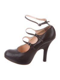 Leather Mary Jane Pumps image 1