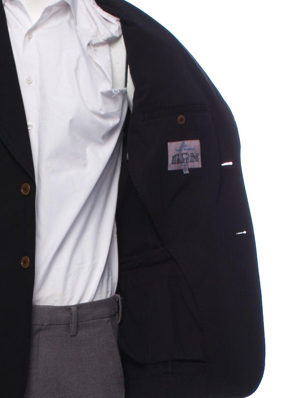 Vivienne Westwood Two-Button Twill Blazer black - image 4