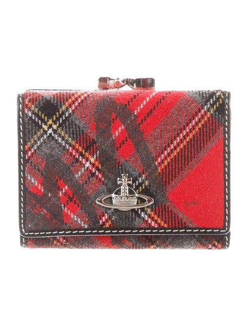 Vivienne Westwood Plaid Compact Wallet multicolor