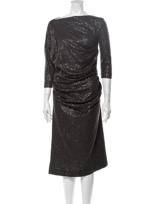 Vivienne Westwood Draped Sequin Dress black