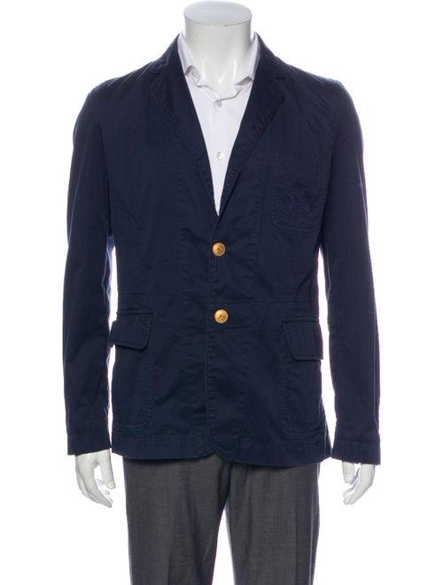 Vivienne Westwood Embroidered Accent Blazer Blue