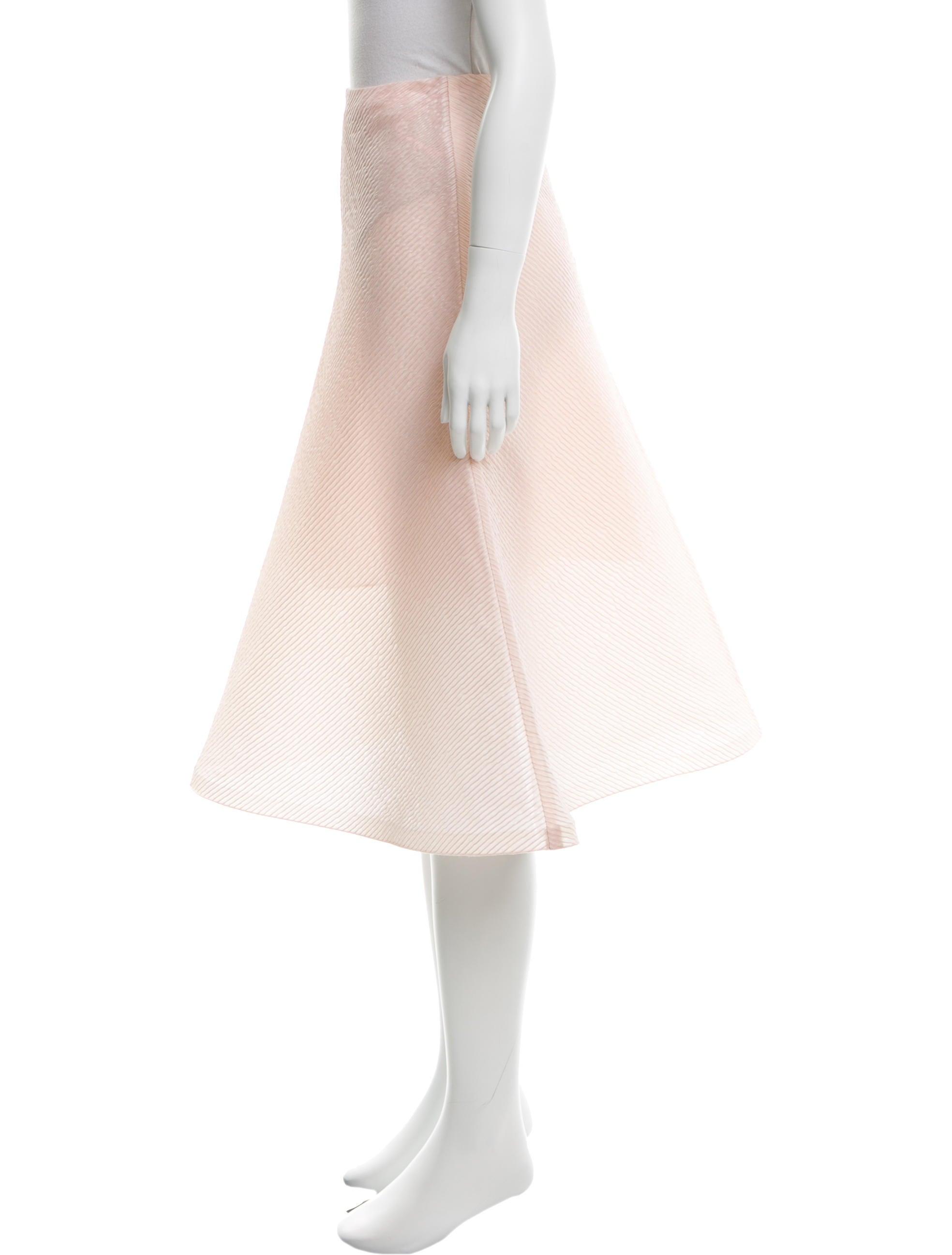vika gazinskaya silk a line skirt clothing vka20062