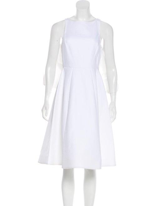 Vika Gazinskaya Flared Midi Dress White