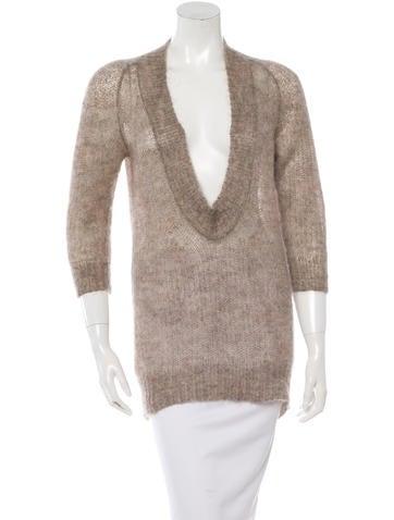 VPL Mohair Open Knit Sweater None