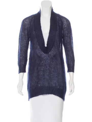 VPL Open Knit Mohair Sweater None