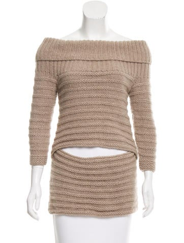 VPL Wool Off-The-Shoulder Sweater None