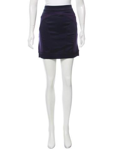 VPL Knit Mini Skirt None
