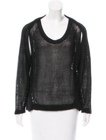 VPL Open Knit Long Sleeve Sweater None