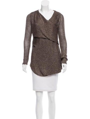 VPL Metallic Rib Knit Sweater None