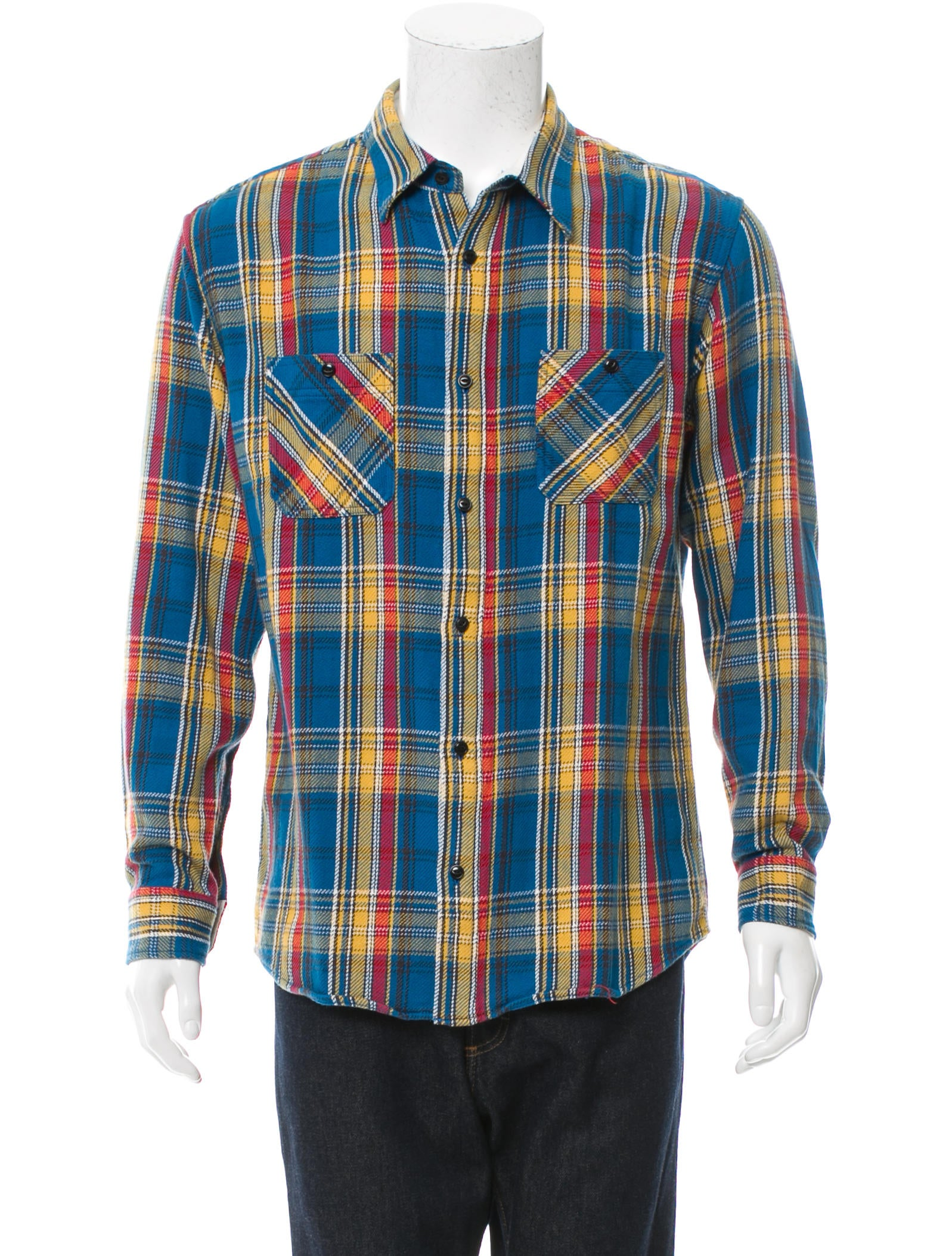 Visvim flannel button up shirt w tags clothing for Button up flannel shirts