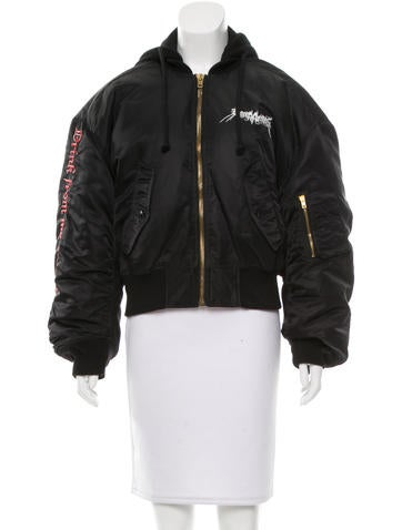 Vetements 2017 Hooded Graphic Bomber