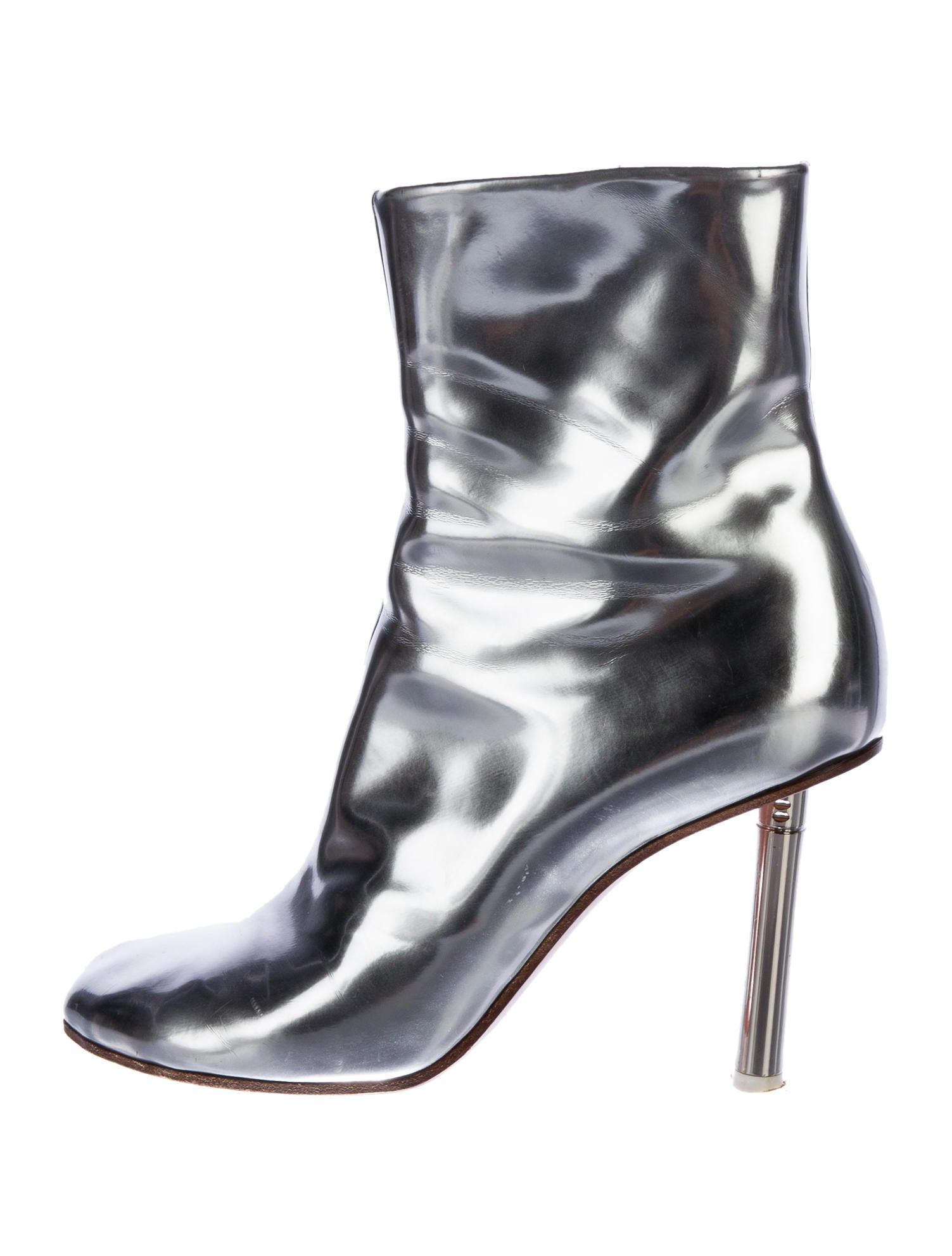 Metallic Leather Boots : Vetements metallic leather ankle boots shoes