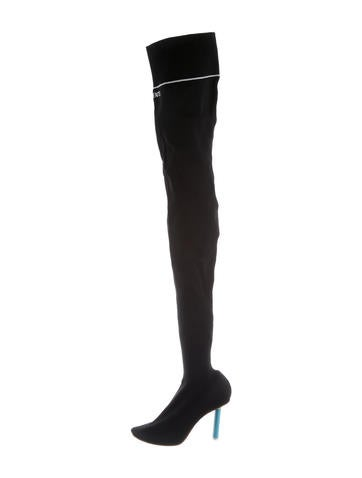 Vetements Thigh High Sock Boots None