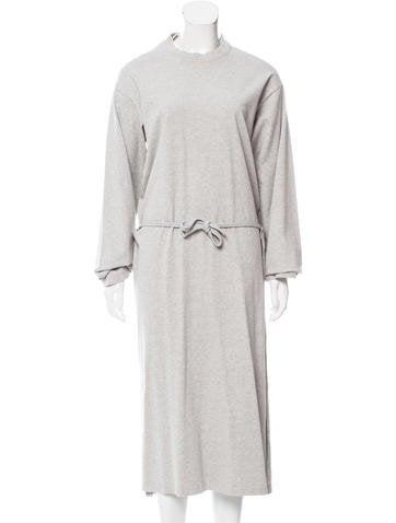 Givenchy Leopard-Print Long Sleeve Sheath Dress - Clothing ...