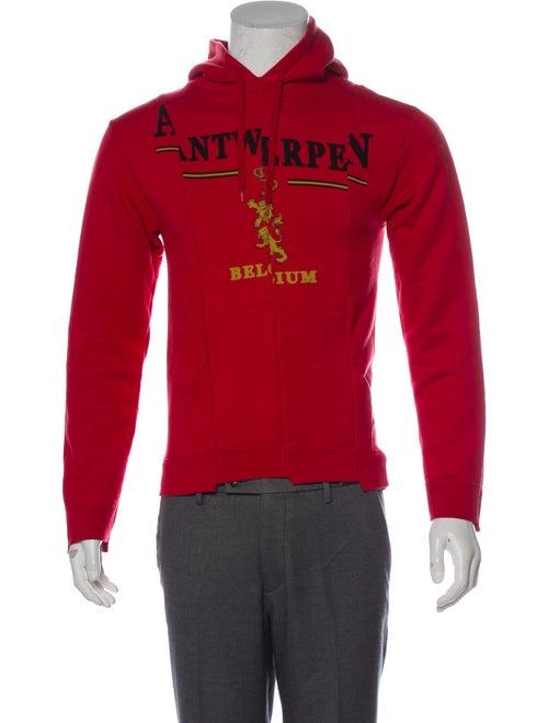 Vetements 2018 Antwerpen Split Hoodie red